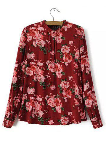 Outfits Floral Blossom Hollow Out Blouse