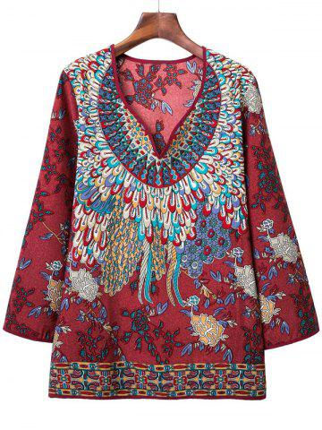 Latest Loose-Fitting Tribal Pattern Blouse
