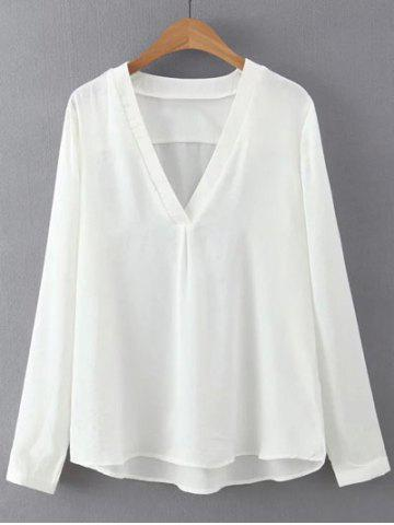 Fancy Light V Neck Long Sleeves Blouse