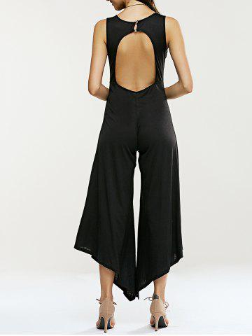 Outfits Hollow Out Sleeveless Asymmetrical Jumpsuit
