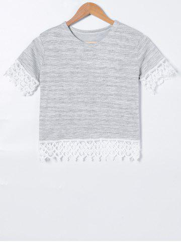Hot Crochet Short Sleeve T-Shirt