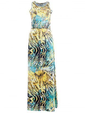 Store Bohemian Sleeveless 3D Print Colorful Maxi Dress