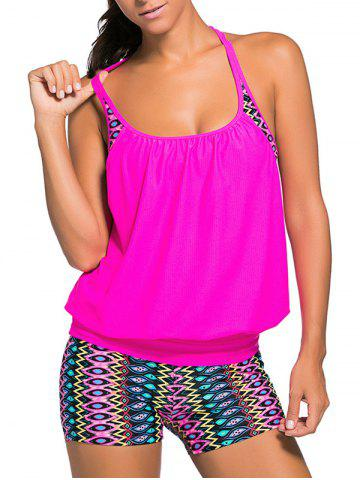 Best Racerback Blouson Tankini Swimsuit With Boxers