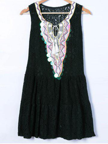 Best Ethnic Style Embroidery Twinset Dress