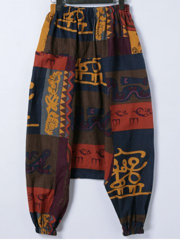 Hot Trendy Tribal Print Cross-Pants