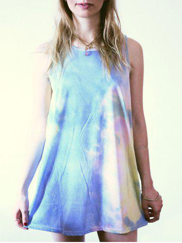 Outfit Casual Round Neck Sleeveless Tie Dye Women's Dress