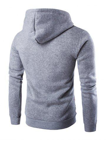 Discount Ethnic Style Stripe Printed Hoodie - L LIGHT GRAY Mobile