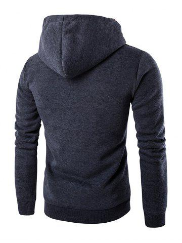 Hot Ethnic Style Stripe Printed Hoodie - 2XL DEEP GRAY Mobile
