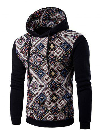 Outfit Ethnic Style Geometric Printed Hoodie