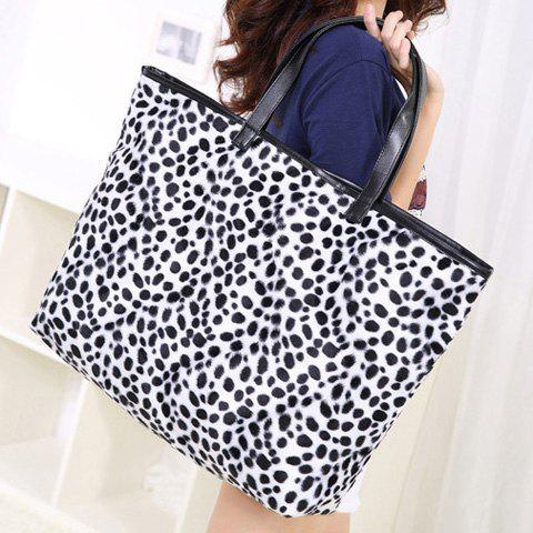 Buy Zip Leopard Print Tote Bag - BLACK  Mobile