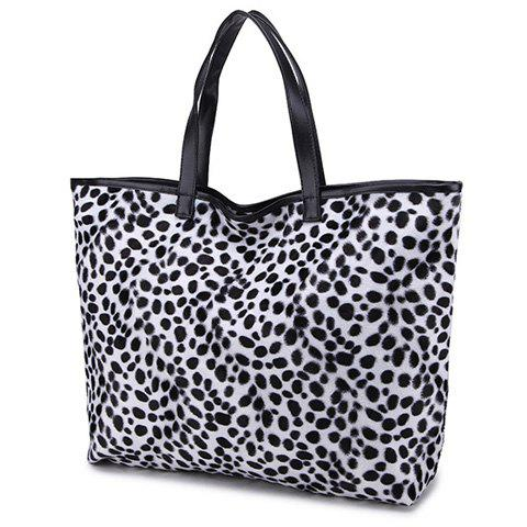 Sale Zip Leopard Print Tote Bag - YELLOW  Mobile
