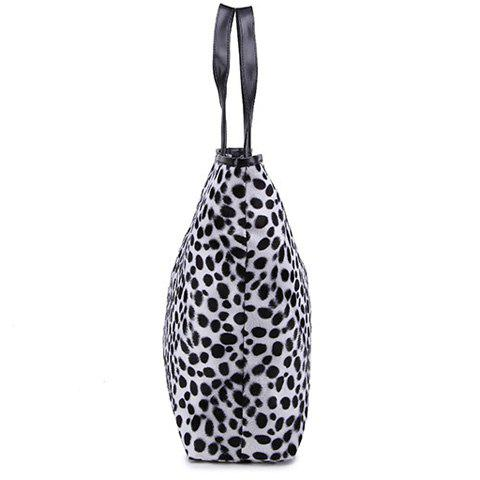 Chic Zip Leopard Print Tote Bag - YELLOW  Mobile