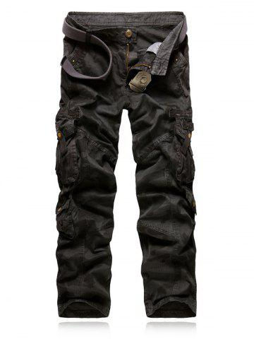 Outfits Camo Multi-Pocket Rivet Embellished Zipper Fly Cargo Pants