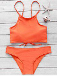 Stylish Cami Orange Women's Bikini Set -