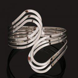 Multilayer Encircle Statement Cuff Bracelet