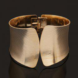 Golden Spring Stripe Polissage Cuff Bracelet - Or