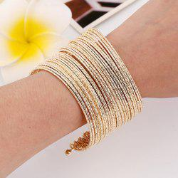 Shiny Multilayer Iron Wire Cuff Bracelet -