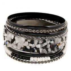 Rhinestone Multilayer Bead Gravel Embellished Bracelet