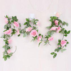 Wall Decor 16 Heads Fake Rose Rattan Artificial Flower - PINK