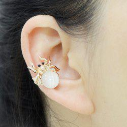 ONE PIECE Faux Opal Spider Ball Ear Cuff -
