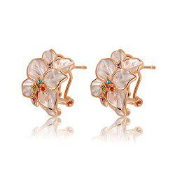 Pair of Alloy Flower Shape Earrings