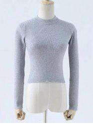 Round Neck Slimming Solid Color Knitwear -