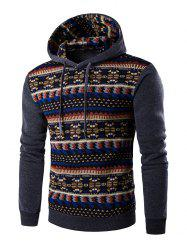 Ethnic Style Printed Long Sleeves Hoodie