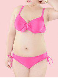 Plus Size Bowknot Decorated Bikini Set -