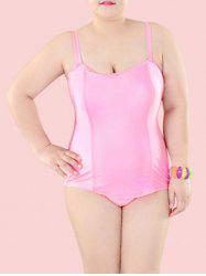 Plus Size Sheath One-Piece Swimwear