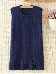 Asymmetric Plus Size Jacquard Knitted Tank Top