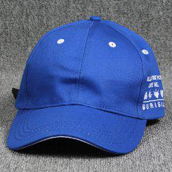 Casual Letter Embroidery Curve Brim Baseball Hat -