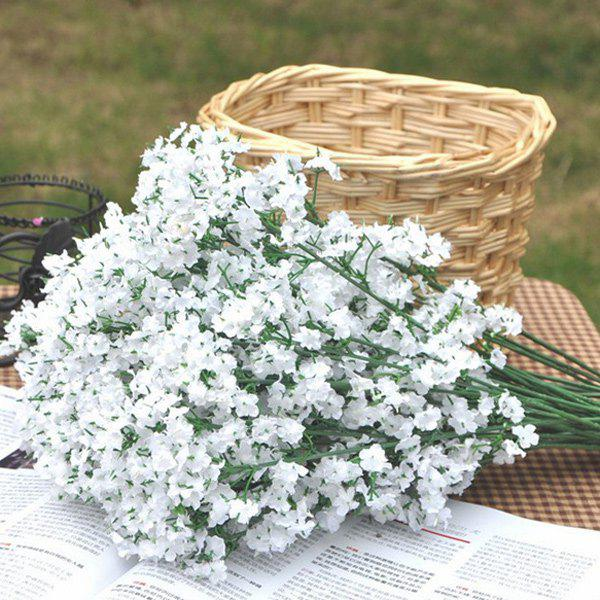 A Bouquet Of White Little Flowers Home Decor Artificial Flower White Image 2