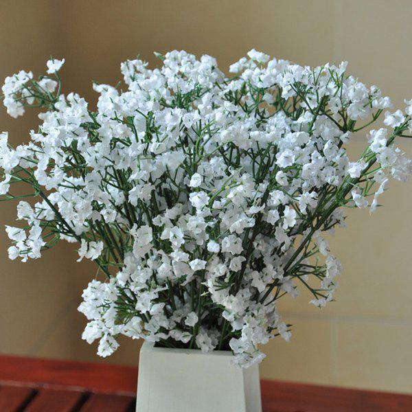 A Bouquet Of White Little Flowers Home Decor Artificial Flower White Image 1