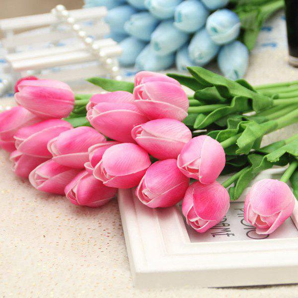 Affordable PU Real Touch Tulip Bouquet Home Decor Artificial Flowers