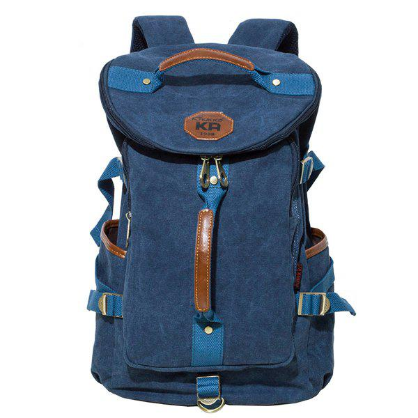 Outfit Side Pocket Canvas Backpack