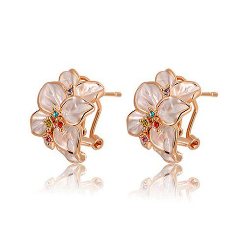 Latest Pair of Alloy Flower Shape Earrings