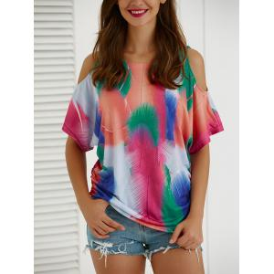 Tie-Dye Short Sleeve Hollow Out T-Shirt
