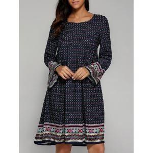 Ethnic Tribal Print Smock Dress