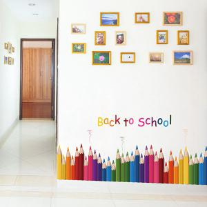 Removable Colorful Pencil Back To School Room Wall Sticker