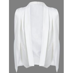 Slit Shawl Collar Cape Blazer