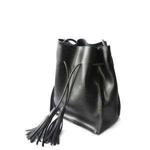 Tassel Bucket Cross Body Bag - Black