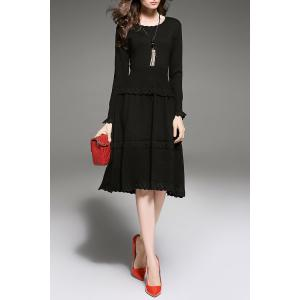 Ruffles Tiered Knitted Dress