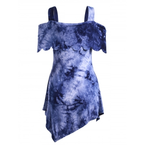 Casual High Low Tie Dye Dress -