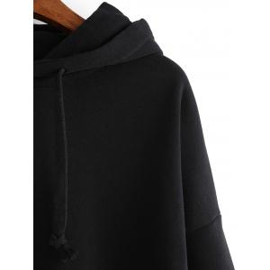 Pure Color Loose-Fitting Hoodie -