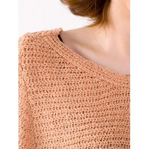 Batwing Sleeve Ribbed Loose-Fitting Sweater -