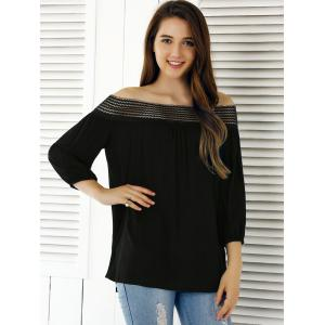 Off The Shoulder 3/4 Sleeve Blouse -
