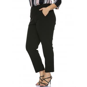 Plus Size Stretched Skinny Fitted Pants -