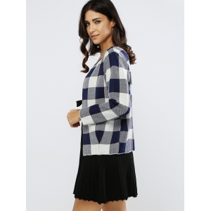 Plaid Color Block Short Coat -