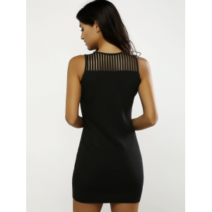 Beading Openwork Bodycon Dress -