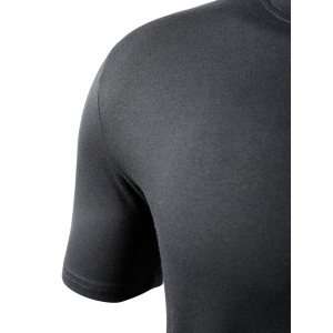 Simple Style Solid Color Short Sleeves T-Shirt For Men - BLACK M